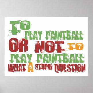 Para jugar Paintball Poster