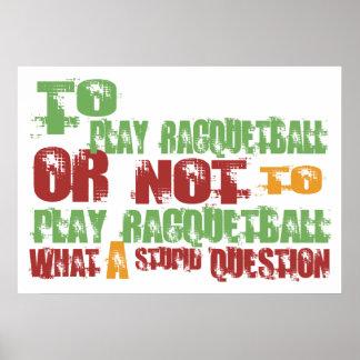 Para jugar Racquetball Impresiones