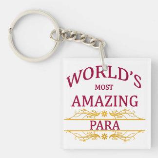 Para Square Acrylic Keychain