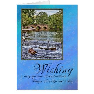 Para la abuela el día de los abuelos tarjeta de felicitación