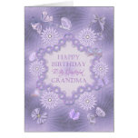 Para la abuela, tarjeta de cumpleaños de la lila