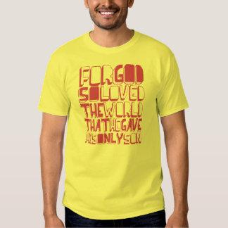 Para la camiseta tan amada de dios camisas