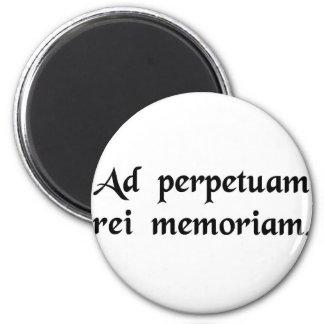 Para la conmemoración perpetua de la cosa imanes para frigoríficos