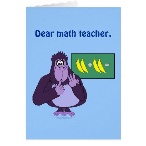 Para la cuenta divertida del gorila del profesor d tarjeton