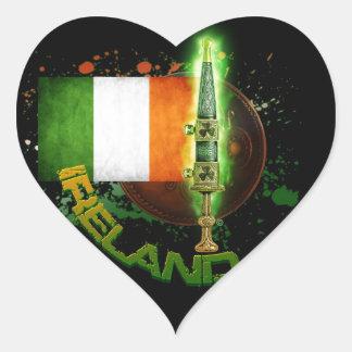 Para la defensa de Irlanda Pegatina En Forma De Corazón