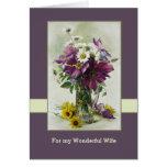 Para la esposa en las tarjetas de felicitación del