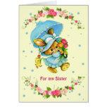 Para la hermana en las tarjetas de felicitación de