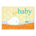 para la invitación natalie_Baby de la ducha - Invitación 12,7 X 17,8 Cm