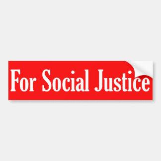 Para la justicia social pegatina de parachoque