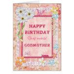 Para la madrina, tarjeta de cumpleaños del arte