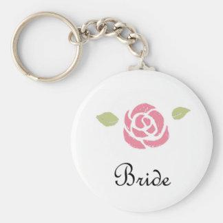 Para la novia llavero redondo tipo pin