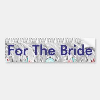 Para la novia pegatina para auto