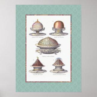 ¡Para la pared de la cocina! Pasteles franceses de Posters