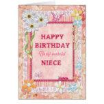 Para la sobrina, tarjeta de cumpleaños del arte