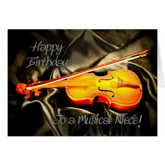 Para la sobrina, una tarjeta de cumpleaños musical