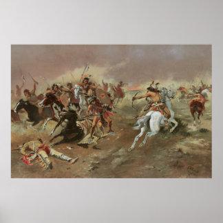 Para la supremacía por cm Russell, indios del Póster