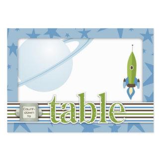 Para la tarjeta de la tabla del bebé plana tarjetas de visita grandes