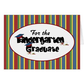 Para la tarjeta del graduado de la guardería