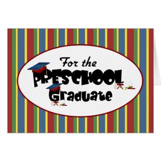 Para la tarjeta graduada preescolar