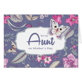 Para la tía en las tarjetas de felicitación del dí