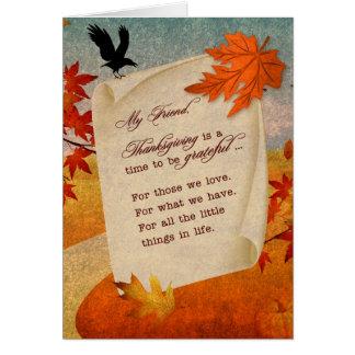 para la trayectoria sentimental del otoño de la tarjeta de felicitación