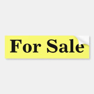 Para la venta, negro en el amarillo, pegatina para pegatina para auto