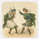Para Lang viejo Syne - Felices Navidad correctas Pegatina Cuadradas