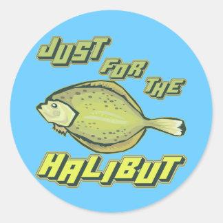 Para las camisetas y los regalos de la pesca del pegatina redonda