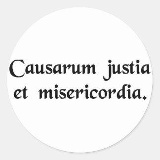 Para las causas de la justicia y de la pegatina redonda
