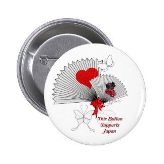 Para las fans bonitas de Japón con el botón de las Pin
