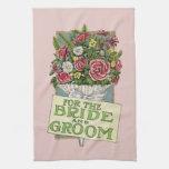 Para las flores rosadas del Vintage-Estilo de novi Toallas De Cocina
