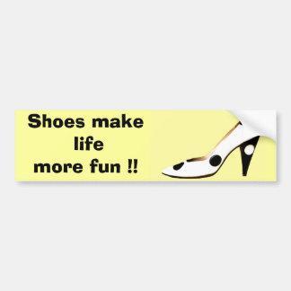 Para las hembras que aman los zapatos pegatina de parachoque