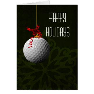 para las tarjetas de Navidad de un golfista