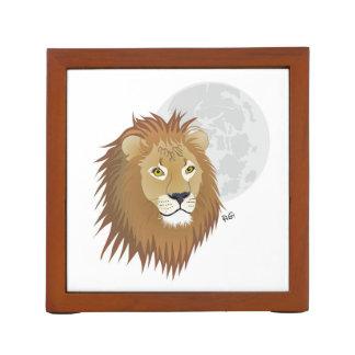 Para león fan dueño de espiga