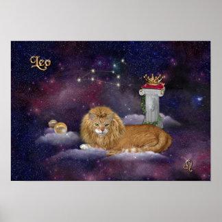 Para Leos y los amantes del gato Póster