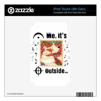 Para los amantes de la música calcomanía para iPod touch 4G