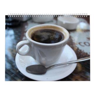 Para los amantes del café calendario de pared