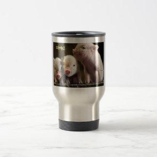 Para los amantes del cerdo taza de viaje de acero inoxidable
