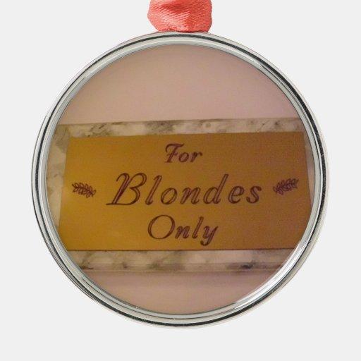 Para los Blondes solamente Adorno De Reyes