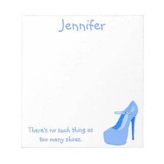 Para los chicas que aman los zapatos del tacón alt libretas para notas