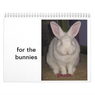 para los conejitos calendario de pared