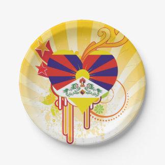 Para los niños: Tíbet fresco Plato De Papel De 7 Pulgadas