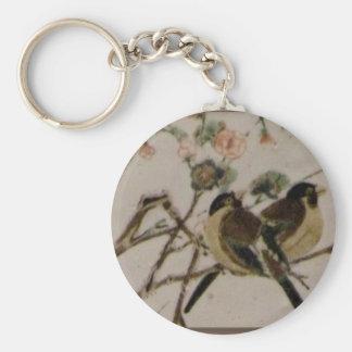 Para los pájaros llavero redondo tipo pin