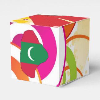 Para los regalos: Mapa de la bandera de Maldivas Cajas Para Regalos