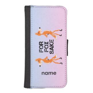 Para los zorros del motivo del Fox que se colocan Billetera Para Teléfono