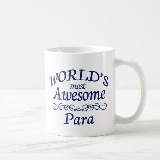 Para más impresionantes del mundo taza básica blanca