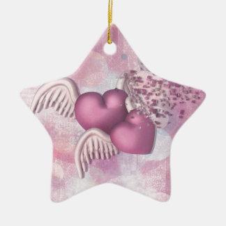 Para mejor o para peor adorno navideño de cerámica en forma de estrella