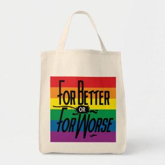 Para mejor o para peor, el orgullo, LGBT, celebra Bolsa Tela Para La Compra