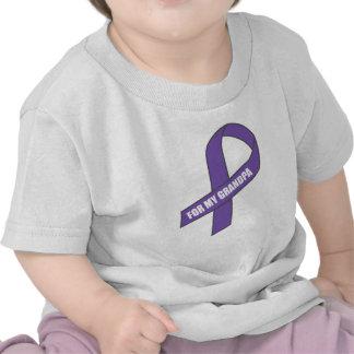 Para mi abuelo (cinta púrpura) camiseta