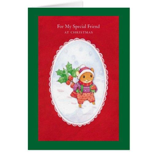 Para mi amigo especial en el navidad tarjeta de felicitación